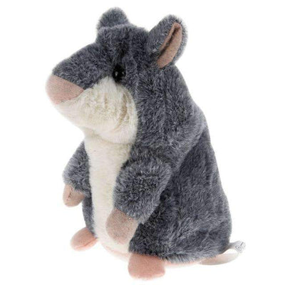 "My Envy Shop Gray ""Limited"" Little Talking Hamster Plush Toy"