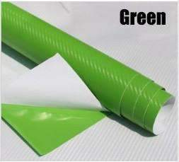My Envy Shop Green 3D Carbon Fiber Vinyl Car Wrap Sheet Roll Film,Car Styling Accessories ,30cmx127cm