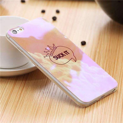 My Envy Shop H / For iPhone 6 6s Plus Cute Blue Light Silicon Back Cover Ultra Thin Blue Ray Case For iPhone 6 6s 5 5s