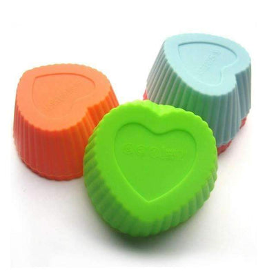 My Envy Shop heart shape 12pcs 4 cute shape SiliconeCupcake