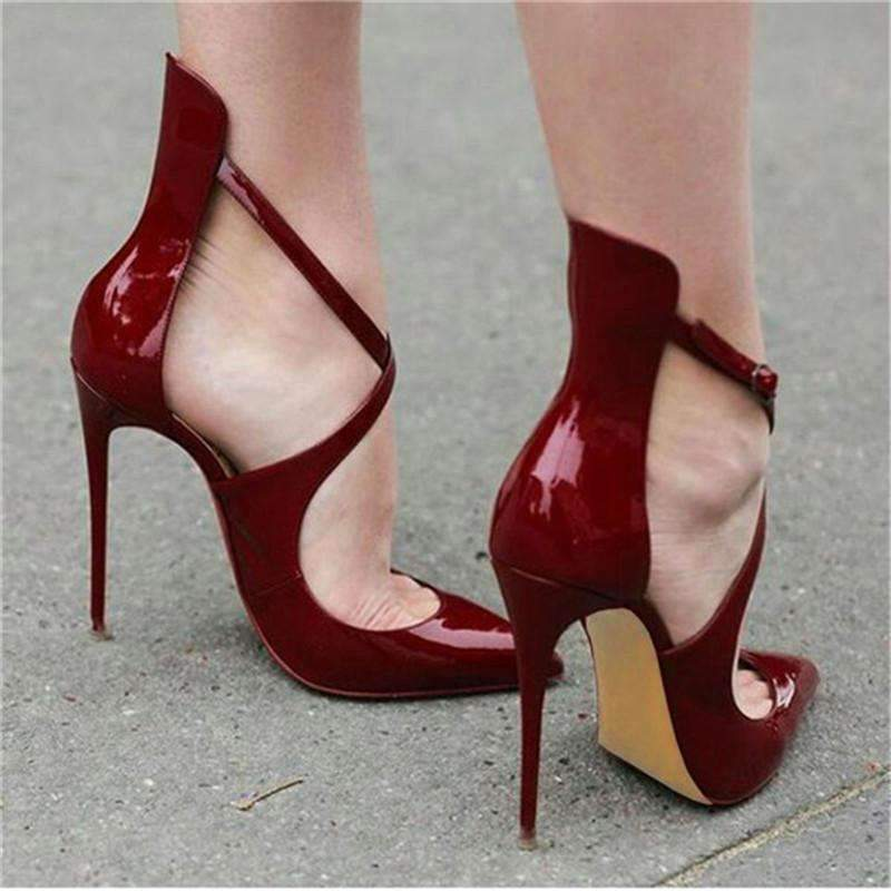 High Heels Valentine  Red Wine Sole