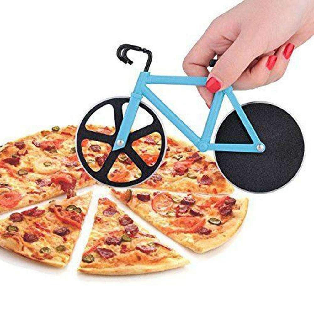 My Envy Shop High Quality Bicycle Pizza Cutter Dual Stainless Steel Bike Pizza Cutter