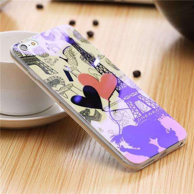 My Envy Shop I / For iPhone 6 6s Plus Cute Blue Light Silicon Back Cover Ultra Thin Blue Ray Case For iPhone 6 6s 5 5s