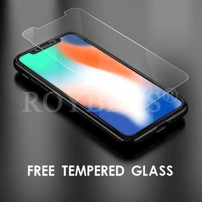My Envy Shop iphone Black Luxury Case For iPhone X Mirror Full Protection 360° with FREE Tempered Glass