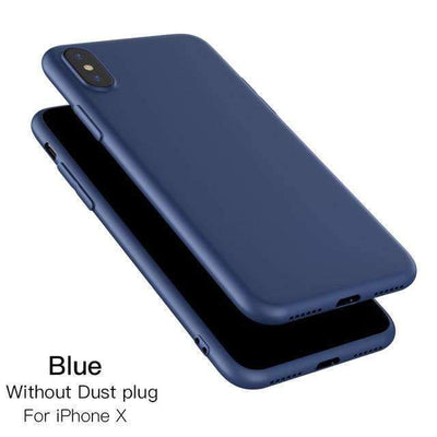 My Envy Shop iphone Blue / for iphone x Luxury iPhone x Silicone case ultra thin & soft slim case