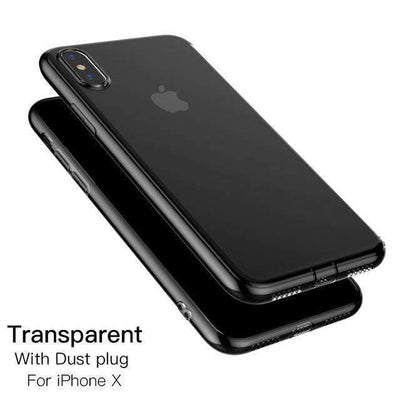 My Envy Shop iphone Dust plug / for iphone x Luxury iPhone x Silicone case ultra thin & soft slim case