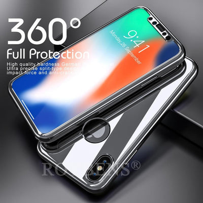 My Envy Shop iphone Luxury Case For iPhone X Mirror Full Protection 360° with FREE Tempered Glass