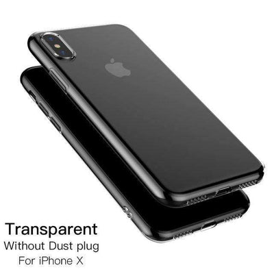 My Envy Shop iphone Transparent / for iphone x Luxury iPhone x Silicone case ultra thin & soft slim case