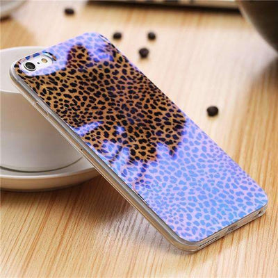 My Envy Shop K / For iPhone 6 6s Plus Cute Blue Light Silicon Back Cover Ultra Thin Blue Ray Case For iPhone 6 6s 5 5s