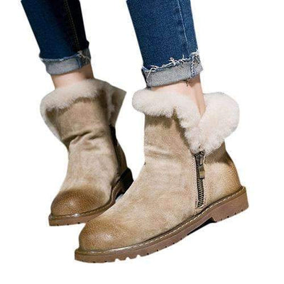 My Envy Shop khaqi / 6 Winter Fur Boots