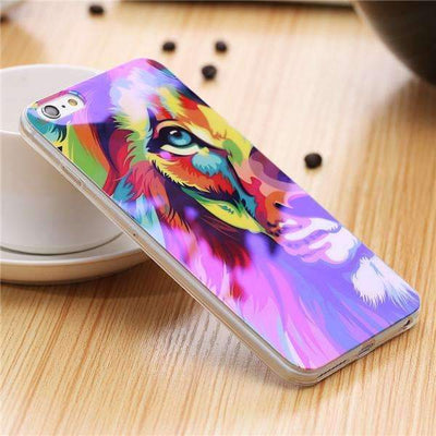 My Envy Shop L / For iPhone 6 6s Plus Cute Blue Light Silicon Back Cover Ultra Thin Blue Ray Case For iPhone 6 6s 5 5s