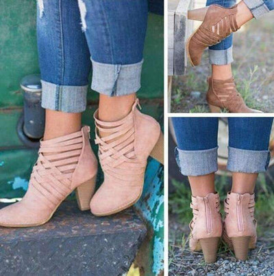My Envy Shop ladies gladiator ankle martin boots