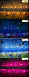 My Envy Shop LED Curtain Light String Star Lights Bedroom Decoration Christmas Wedding Party Lights String