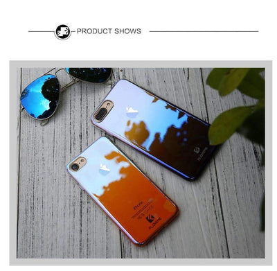 My Envy Shop LUXURY BLUE LIGHT RAY CASE FOR iPhone 5 6 7 Plus ULTRA THIN COOL HARD COVER FOR iPhone
