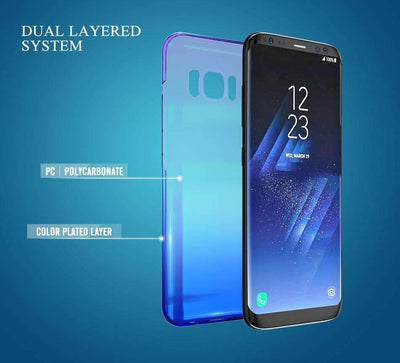 My Envy Shop Luxury Blue Light Ray Case For Samsung Galaxy S6 S8 S7 Edge Ultra Thin Cool Hard Cover For Samsung