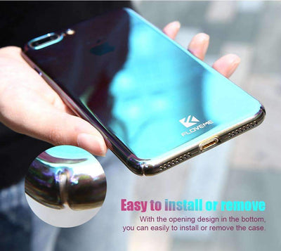 My Envy Shop LUXURY BLUE LIGHT RAY CASE ULTRA THIN COOL HARD COVER FOR IPHONE