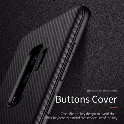 official photos b43d4 bb188 Luxury Business Ultra Thin Slim Carbon Fiber for Samsung Galaxy S9 Case  Back Cover