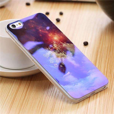 My Envy Shop M / For iPhone 6 6s Plus Cute Blue Light Silicon Back Cover Ultra Thin Blue Ray Case For iPhone 6 6s 5 5s