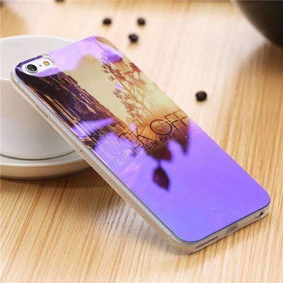 My Envy Shop N / For iPhone 6 6s Plus Cute Blue Light Silicon Back Cover Ultra Thin Blue Ray Case For iPhone 6 6s 5 5s
