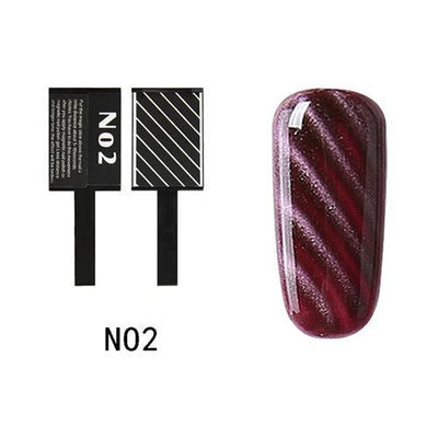 My Envy Shop N02 Gel Nail Polish Top Coat Soak Off UV LED Magnetic 3D Effect Cat Eye