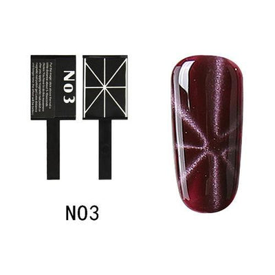 My Envy Shop N03 Gel Nail Polish Top Coat Soak Off UV LED Magnetic 3D Effect Cat Eye