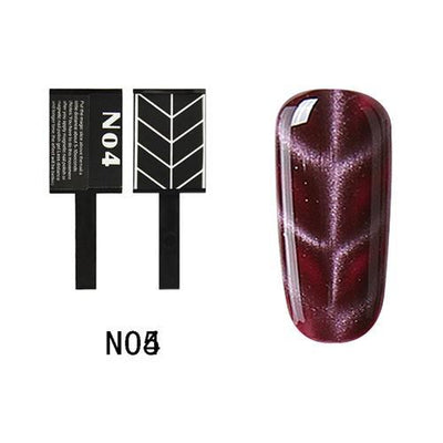 My Envy Shop N04 Gel Nail Polish Top Coat Soak Off UV LED Magnetic 3D Effect Cat Eye