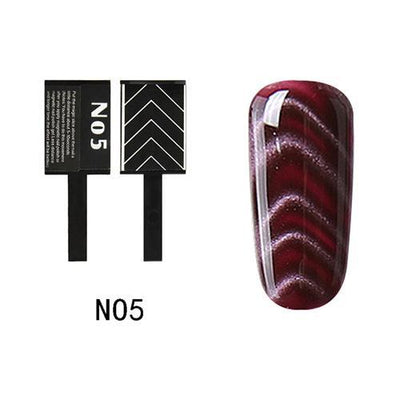 My Envy Shop N05 Gel Nail Polish Top Coat Soak Off UV LED Magnetic 3D Effect Cat Eye