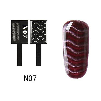 My Envy Shop N07 Gel Nail Polish Top Coat Soak Off UV LED Magnetic 3D Effect Cat Eye