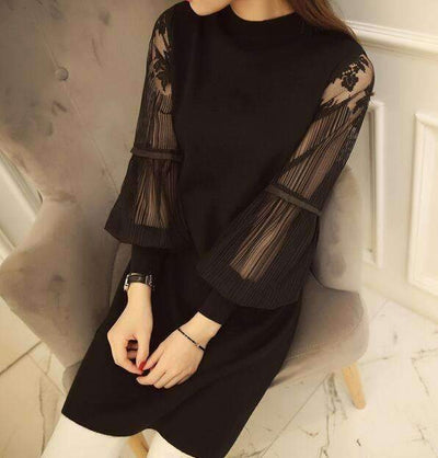 My Envy Shop New sexy slim lace stitching women dress