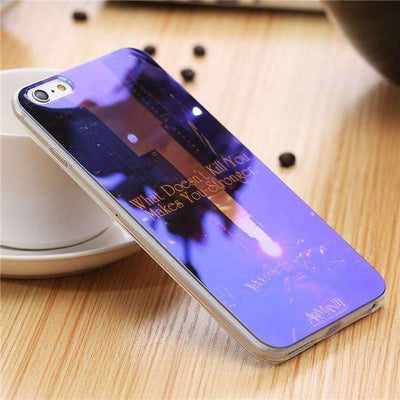 My Envy Shop O / For iPhone 6 6s Plus Cute Blue Light Silicon Back Cover Ultra Thin Blue Ray Case For iPhone 6 6s 5 5s