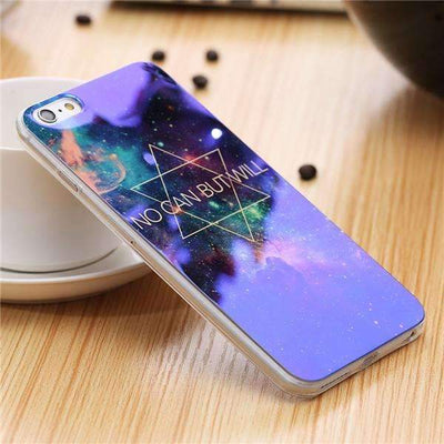 My Envy Shop P / For iPhone 6 6s Plus Cute Blue Light Silicon Back Cover Ultra Thin Blue Ray Case For iPhone 6 6s 5 5s