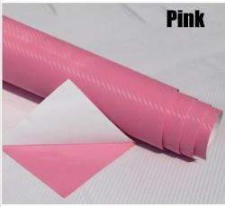 My Envy Shop Pink 3D Carbon Fiber Vinyl Car Wrap Sheet Roll Film,Car Styling Accessories ,30cmx127cm