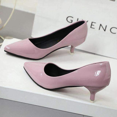 My Envy Shop Pink 4CM / 4.5 New Fashion high heels women pumps thin heel classic