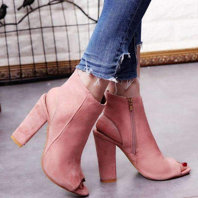 My Envy Shop Pink / 5 High Heels Ankle Boots