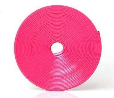 My Envy Shop Pink 8M / Lot New Car Styling Auto Accessories :) Car  Wheel Ring Tire Wheel Protector Fashion and Beauty <3