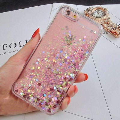 My Envy Shop Pink / For iPhone 5 5s lovely Glitter Stars Dynamic Liquid Back cover For Iphone 6 6S 6Plus 6SPlus 7 7Plus 5 5S