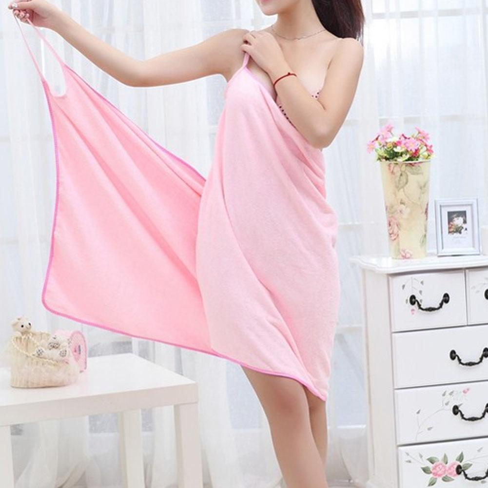 My Envy Shop Pink Quick Dry Microfiber Bath Dress Towel