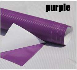 My Envy Shop Purple 3D Carbon Fiber Vinyl Car Wrap Sheet Roll Film,Car Styling Accessories ,30cmx127cm