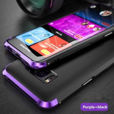 My Envy Shop Purple black / For Galaxy S8 Luxury Hybrid Slim Cover 360° Full Protection 3 in 1 For Samsung Galaxy S8 S8+