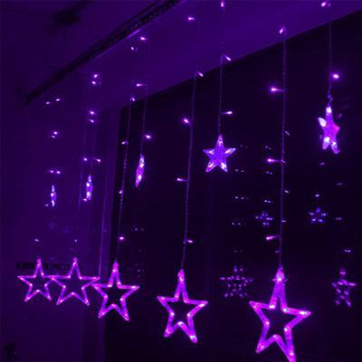 My Envy Shop Purple / EU-220V Plug 110/220V EU/US Led Christmas Star  Decoration