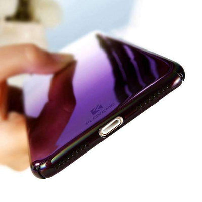My Envy Shop Purple / For iPhone 6 6S LUXURY BLUE LIGHT RAY CASE FOR iPhone 5 6 7 Plus ULTRA THIN COOL HARD COVER FOR iPhone