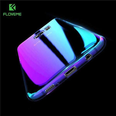 My Envy Shop Purple / For Samsung S6 Luxury Blue Light Ray Case For Samsung Galaxy S6 S8 S7 Edge Ultra Thin Cool Hard Cover For Samsung