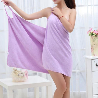 My Envy Shop Purple Quick Dry Microfiber Bath Dress Towel