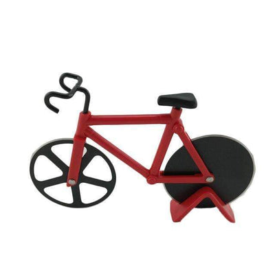 My Envy Shop Red High Quality Bicycle Pizza Cutter Dual Stainless Steel Bike Pizza Cutter