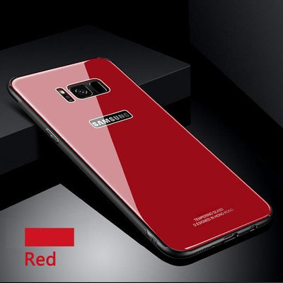 My Envy Shop Red / Samsung NOTE 8 Tempered Glass Case for Samsung S 8 9 + Note 8 Back Cover