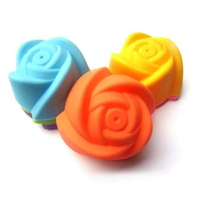 My Envy Shop rose shape 12pcs 4 cute shape SiliconeCupcake