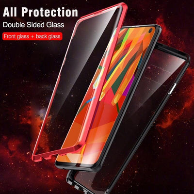 My Envy Shop Samsung Gold / For Samsung Note 9 Luxury Double Sided Glass Metal Magnetic Case For Samsung