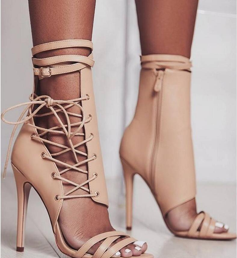 4aab56ccbe1 Sexy Sandals Gladiator Lace up high heels