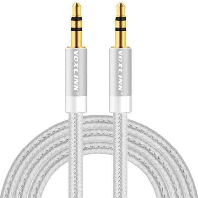 My Envy Shop Silver / 200cm Gold Plated Plug 3.5mm Aux Cable Line For Car iPhone MP3/MP4 Headphone Speaker