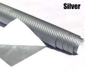 My Envy Shop Silver 3D Carbon Fiber Vinyl Car Wrap Sheet Roll Film,Car Styling Accessories ,30cmx127cm
